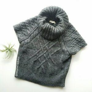 ANN TAYLOR LOFT Gray Cowl Neck Sweater